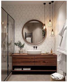 Cozy Bathroom, Scandinavian Bathroom, Modern Bathroom Decor, Modern Farmhouse Decor, Simple Bathroom, Bathroom Interior Design, Master Bathroom, Modern Hallway, Industrial Bathroom