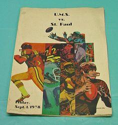 Mobile Alabama High School Football Program UMS St Paul Coke Ad Pictures Vintage