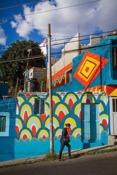 Las Américas project, Pilot phase. Santiago de Querétaro. Mexico. By Boa Mistura. Image courtesy of Las Américas.