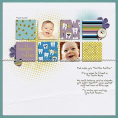 #papercraft #scrapbook #layout  Toothie Ruthie by Yellowpeep @2peasinabucket