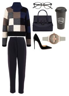 """""""Stylish✌🏼️"""" by ninabrom ❤ liked on Polyvore featuring Current/Elliott, Versace, Christian Louboutin, Olivia Burton and The Created Co."""