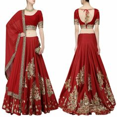 Golden Leaf Embroidered Red Banglori Silk Lehenga  Product Info : Lehenga length : 6.30mtr Blouse : 1 mtr Dupatta Length : 2.25m Colour : Red  Lehenga Fabric : Banglori Silk  Blouse Fabric : BANGLORY SILK Dupatta Fabric : RED 60GM  Work : Heavy Embroidered+FILM/CODING WORK  Price : 2800 INR Only ! #Booknow 👉 World Wide Shipping Available ! ✈ PayPal / WU Accepted 👉 C O D Available In India ! Shipping Charges Extra 👉 Stitching Service Available 👉 To order / enquiry 📲 ..