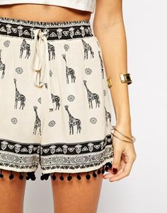 Enlarge Kiss The Sky Shorts In Giraffe Print from ASOS