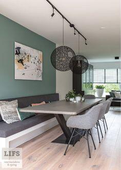 Banquette Seating In Kitchen, Dining Room Bench, Dining Nook, Dining Room Design, Interior Design Living Room, Living Room Decor, Home Remodeling, Furniture Design, House Design