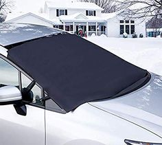 Szie S 86*49 Extra Thicker Car Windscreen Protector with Two Mirror Covers,THEFT-PROOF Snow Cover Windshield Ice Cover Dust Sun Shade Protector in All Weather