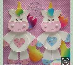 Doce Arte by Pati Guerrato Kids Crafts, Foam Crafts, Diy And Crafts, Paper Crafts, Unicorn Birthday, Unicorn Party, Letter E Craft, Kids Christmas, Christmas Ornaments