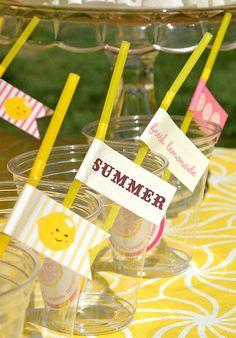 Pink Lemonade Party by blush printables, via Flickr