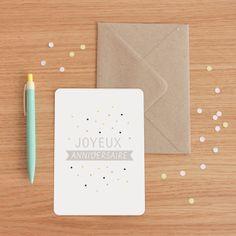 """Carte """"Joyeux Anniversaire"""" - Zü http://zushop.bigcartel.com/"""
