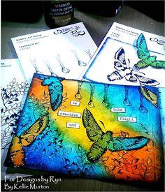 Mixed Media Process Series-28 Page Mini Art Journal Page #3 Using Desig...