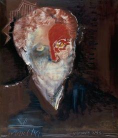 Martha - Sigmund's wife (1984) by  Marlene Dumas (Stedelijk Amsterdam)