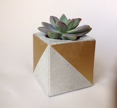 Geo Concrete Planter by ConcreteWonders on Etsy