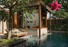 The Elysian Boutique Villa Hotel, Seminyak, Bali Private Pool - 9 Nights Interior Exterior, Luxury Interior, Exterior Design, House Bali, Beach House, Outdoor Rooms, Outdoor Living, Outdoor Lounge, Indoor Outdoor