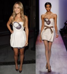 BCBG Max Azria's Fall 2008 collection Runway Cotton Dress $357