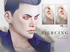 Piercings for male and female sims in 25 colors. base colors, 5 effects). Found in TSR Category 'Sims 4 Female Earrings' Ear Cuff Piercing, Men's Piercings, Female Piercings, The Sims, Sims Cc, Sims 4 Cc Kids Clothing, Sims 4 Cc Shoes, Sims 4 Cc Makeup, Sims 4 Cc Skin