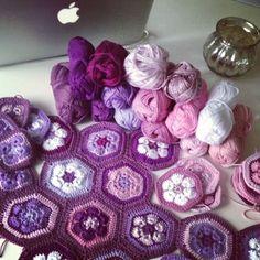 African Flowers #crochet by Belinda Harrett