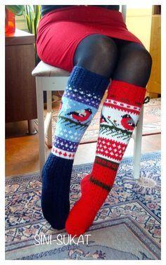 17 Trendy & comfy socks for the Christmas Cable Knit Socks, Crochet Socks, Wool Socks, Knit Mittens, Knit Or Crochet, Knitted Hats, Loom Knitting, Knitting Socks, Norwegian Knitting