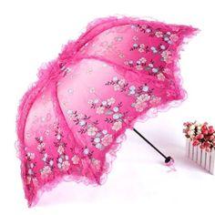 New-Lace-Floral-Parasol-Lady-Anti-UV-Sun-proof-Sunshade-3-Folding-Rain-Umbrella