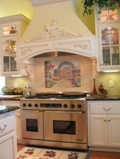 Superieur French Country Range Hood....and I Wouldnu0027t Mind That Lovely. Beautiful  Kitchens!