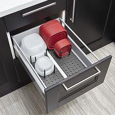 Best Diy Kitchen Storage Organization Ideas - Page 11 of 37 Kitchen Drawer Organization, Diy Kitchen Storage, Kitchen Pantry, New Kitchen, Organization Ideas, Organizing Solutions, Kitchen Ideas, Awesome Kitchen, Diy Drawer Organizer