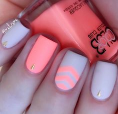 Love this orange neon manicure by @melcisme using our Single Chevron Nail Vinyls found at snailvinyls.com! Don't forget our Sale- 20% off our Spring Collection. Check out our blog for details!