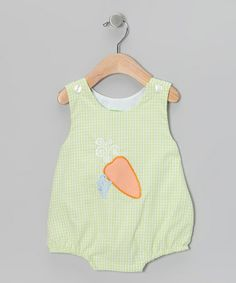 Take a look at this Green Carrot Bubble Bodysuit - Infant by Candyland on #zulily today!