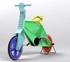 Dror Peleg designed this concept bike, a single-speed road bike made from recycled plastic, as his graduation project at the Bezalel Academy of Design in Jerusalem.