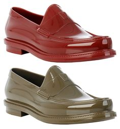 Who needs Hunter boots when you can buy YSL Rubber Rain Loafers :)