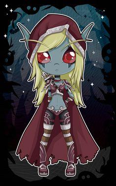 Sylvanas Windrunner Chibi - World of Warcraft by Aphoedia