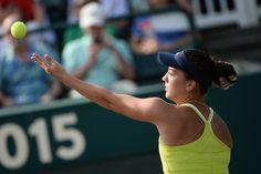 Qualifier, Danka Kovinic serving it up during her quarterfinal appearance.