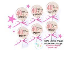 1/2 dozen of 40 years FABULOUS Lollipops  40th by lollitukisweets