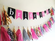 Bride to Be Banner Wedding Shower Banners, Bride To Be Banner, Office Birthday, Thing 1, Bridal Shower Decorations, All Things, Handmade, Stuff To Buy, Party