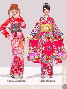 da38d1ed0f Studio K-Creation - Japanese Kimono for The Sims 4
