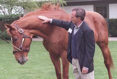 Affirmed and his jockey Steve Cauthen reunite