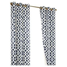 Add a bold pop of pattern to your living room or master suite with this stylish curtain panel, showcasing an eye-catching trellis motif.  ...