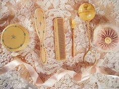 detail of antique 'nursery set' pieces
