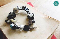 Black buttons bracelet by FraGiú handmade  www.facebook.com/fragiuhandmade  Instagram: fragiuhandmade