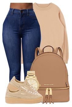 """""""You look as good as the Day I met you."""" by bria-myell ❤ liked on Polyvore featuring MICHAEL Michael Kors, Michael Kors and Puma"""