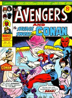 Marvel UK Avengers #97, Goliath and the Swordsman