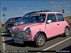 Vintage Pink Mini Cooper