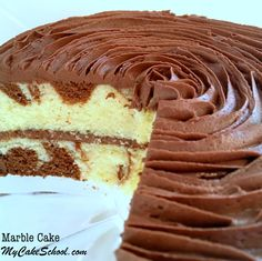 This Homemade Marble Cake Recipe by MyCakeSchool.com is Delicious. You will love this scratch recipe!