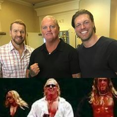 Awesome reunion of the WWE Attitude Era faction, The Brood ☆ Christian, Gangrel, and Edge #WWE #WWF #attitudeera #WWEHOF