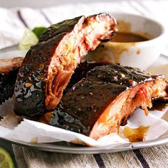 from better homes gardens spicy hoisin honey ribs these spicy hoisin ...