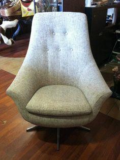 Mid Century Modern Chair   Scoop Tulip Lounge Papa Retro High Back Office Swivel