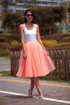 Love the color of this skirt ♡Hey, I found this really awesome Etsy listing at https://www.etsy.com/listing/165981877/tulle-skirt-tea-length-tutu-skirt-knee