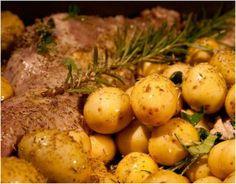 τραγανό αρνάκι στο φούρνο με πατάτες