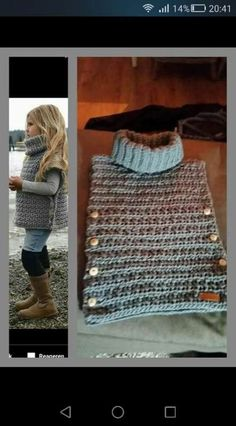 Poncho from CCC - poncho with moss stitch with a pocket on front. Poncho Pattern: Chain the chains with a slip SC, increase on every Knit Or Crochet, Crochet Scarves, Crochet For Kids, Crochet Shawl, Crochet Clothes, Crochet Stitches, Diy Clothes, Crochet Baby, Knitting For Kids