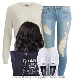 My sus Cecelia is no longer in the group The Trill Dollz. by trillest-queen on Polyvore featuring polyvore, fashion, style, 2nd Day, Frame Denim, Keds and Chanel