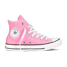 Pink High Top Chuck Taylor Shoes : Converse Shoes | Converse.com ($55) ❤ liked on Polyvore