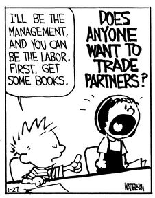 Calvin and Hobbes (DA) - DOES ANYONE WANT TO TRADE PARTNERS?