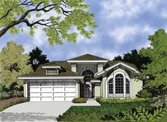 Mediterranean House Plan with 1280 Square Feet and 3 Bedrooms from Dream Home Source | House Plan Code DHSW18319